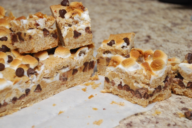 Peanut Butter S'mores Squares